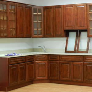 Wine Maple 7×8 Kitchen Cabinets